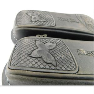 Alegria Shoes - ALEGRIA Floral Blue Leather Mary Jane Flats 39